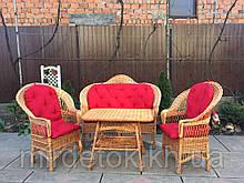 Набор мебели из натуральной лозы для балкона или  сада Эко