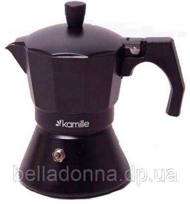 Кофеварка гейзерная на 3 порции 150 мл Kamille KM-2511