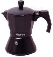 Кофеварка гейзерная на 3 порции 150 мл Kamille KM-2511, фото 1