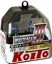 Комплект ламп (2шт) Koito WhiteBeam III 2x H1 4200К P0751W