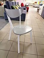 Стул Модерн Т С-616 Белый с Серым сидением  Твердый, фото 1