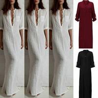Довге жіноче лляне плаття 100% білоруського льону. 42-74+ батал