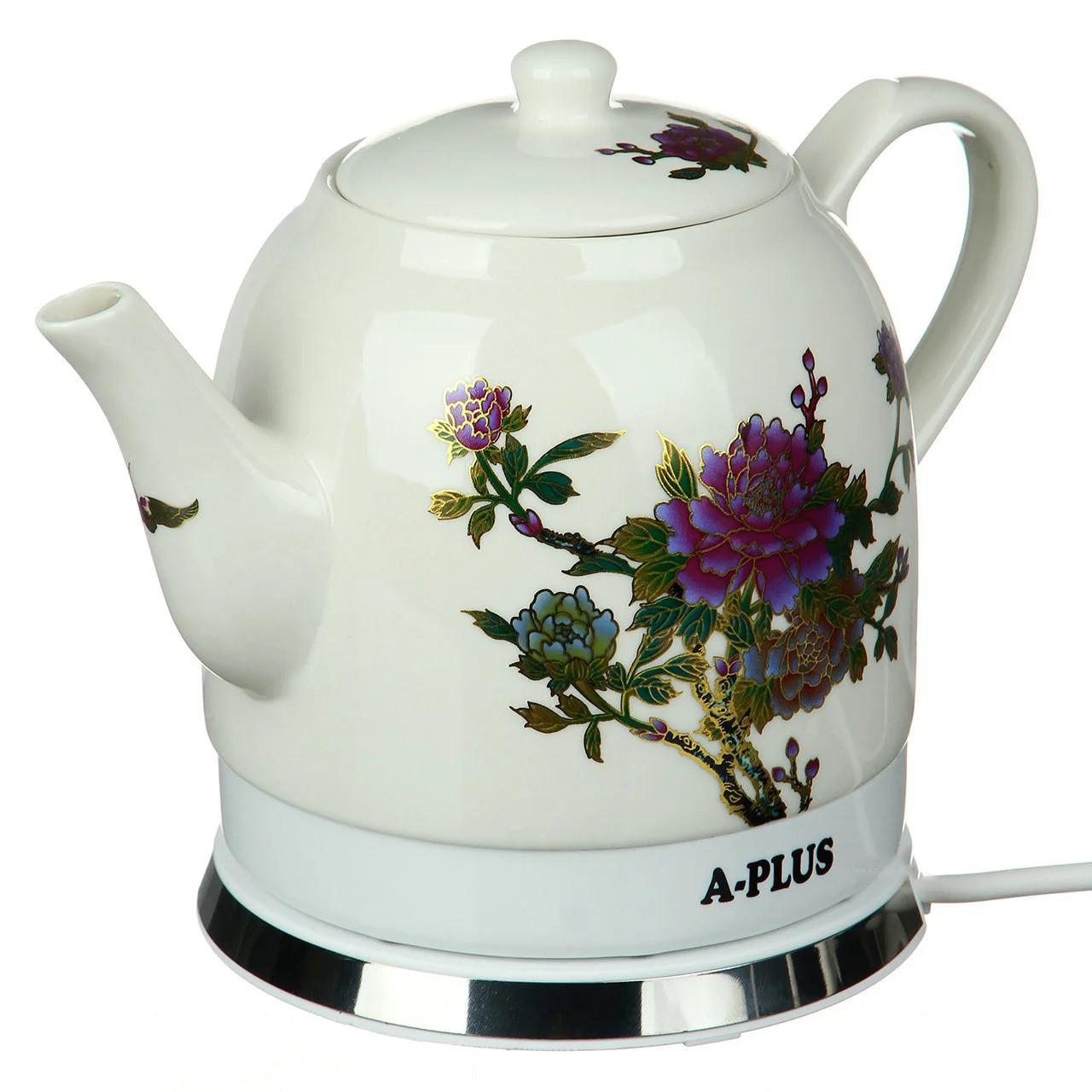 Электрочайник керамический A-PLUS 1.4 л чайник электрический