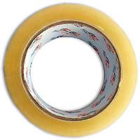 Скотч прозрачный упаковочный, рулон 100 м, ширина 45 мм, толщина ленты 45 мкн, диаметр 100мм