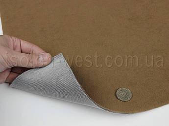 Ткань потолочная цвет бежево-коричневый Frota 8 автовелюр на поролоне 2 мм с сеткой ширина 1.80 метра