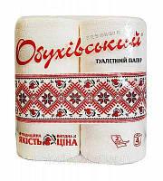 Туалетная бумага «Обуховская»,белая 2-х слойная 4 рулона