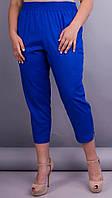 Летние синие женские брюки-капри,из штапеля 50-52,54-56 58-60,62-64