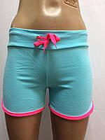 Женские трикотажные шорты хлопок спортивного стиля