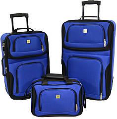 Набір валіз Bonro Best 2 шт і сумка синій (10080102)