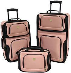 Набір валіз Bonro Best 2 шт і сумка рожевий (10080103)