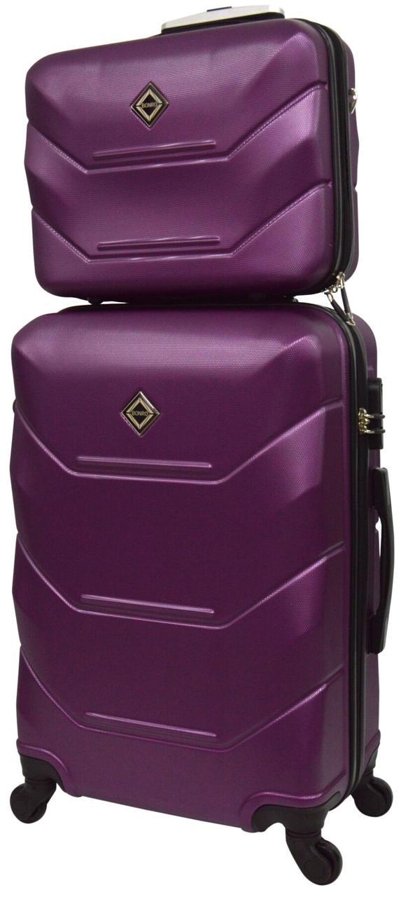 Комплект валіза і кейс Bonro 2019 маленький бузковий (10501006)
