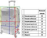 Комплект валіза і кейс Bonro 2019 маленький бузковий (10501006), фото 9