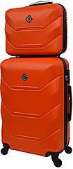 Комплект валіза і кейс Bonro 2019 середній оранжевий (10501101)