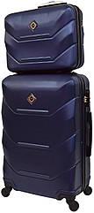 Комплект валіза і кейс Bonro 2019 середній темно-синій  (10501104)