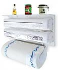 [ОПТ] Кухонный диспенсер тройной для кухонных полотенец фольги и пищевой пленки Kitchen Roll Triple Paper, фото 3