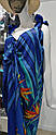 Парео-сарафан, синій з квітами, one size, TM Anabel Arto, Україна, фото 2