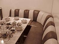 Комбинированный угловой диван на кухни. Кухонный уголок на заказ Днепр.
