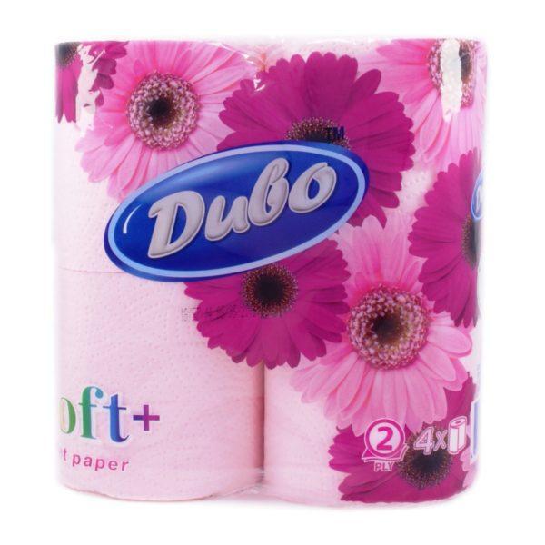 Туалетная бумага Диво розовая 4 шт , 2х слойная на гильзе (большая намотка)