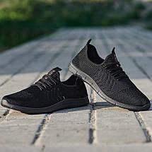 Мужские легкие летние кроссовки из черного текстиля GIPANIS 43 р. 28,5 см (1185380761), фото 2