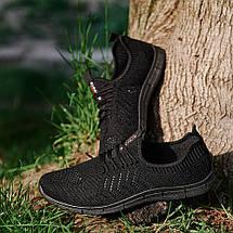 Мужские легкие летние кроссовки из черного текстиля GIPANIS 43 р. 28,5 см (1185380761), фото 3