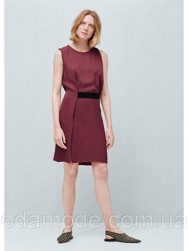 Платье женское mango бордовое