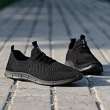 Мужские легкие летние кроссовки из черного текстиля GIPANIS 45 р. 30 см (1185380761), фото 3