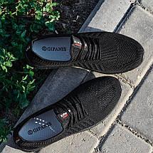 Мужские легкие летние кроссовки из черного текстиля GIPANIS 45 р. 30 см (1185380761), фото 2