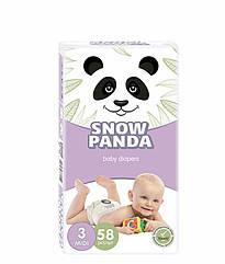 Подгузники Снежная панда 3 Midi (4-9 кг), 58 шт. SNOW PANDA