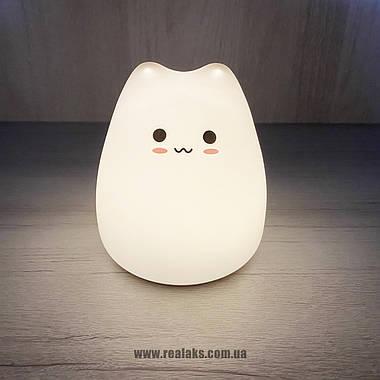 Силиконовый ночной светильник Little Cat LJC-124 (White), фото 3