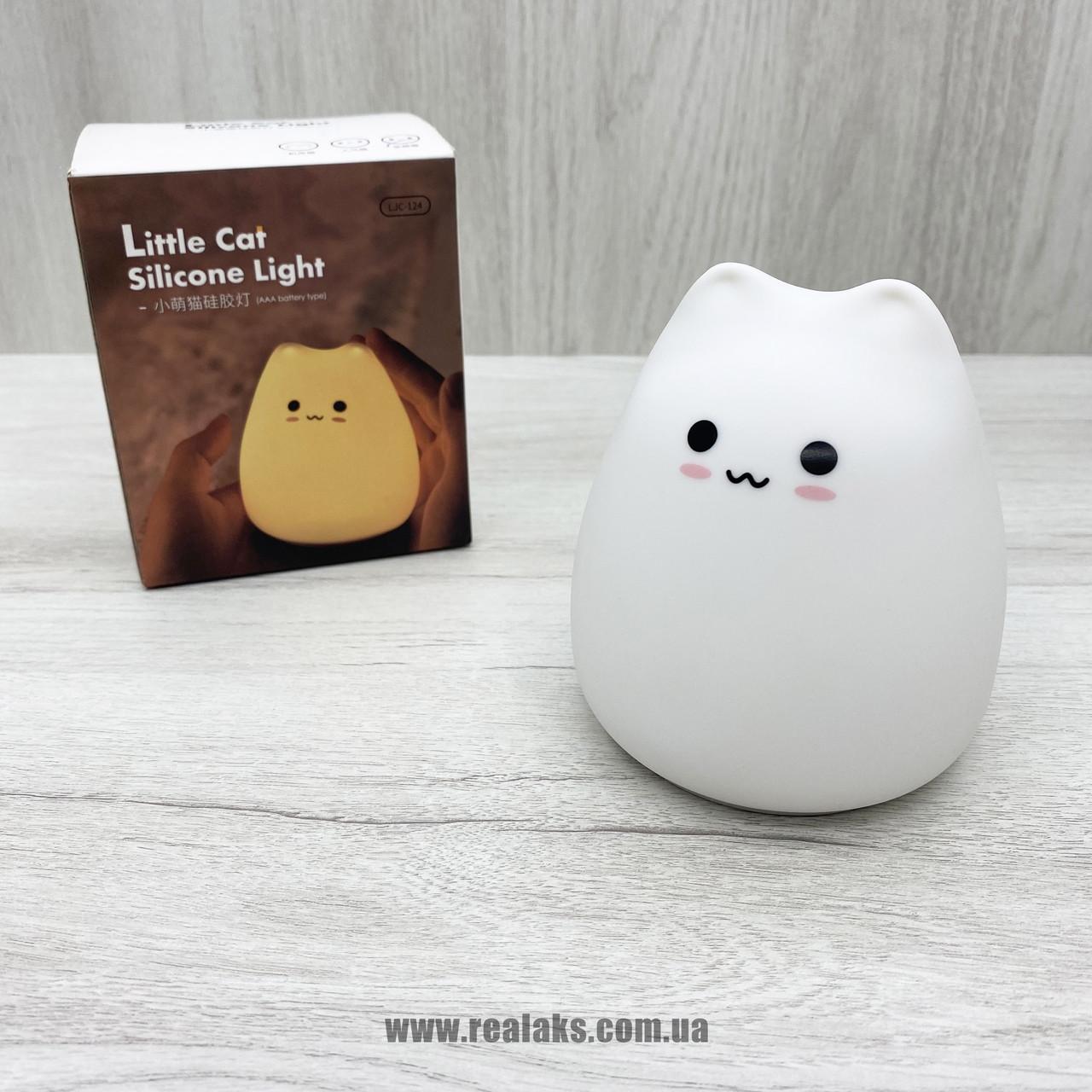 Силиконовый ночной светильник Little Cat LJC-124 (White)