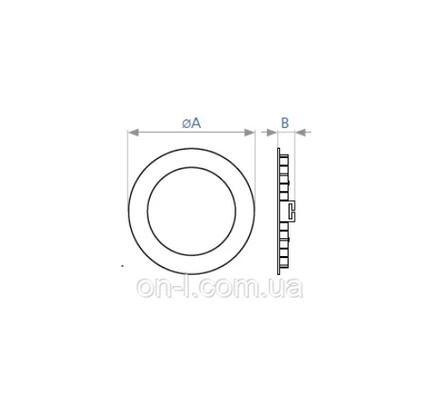 Светодиодный светильник DELUX CFR LED10 12 Вт встраиваемый, круглый, фото 2