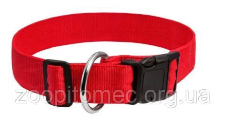 Нейлоновый ошейник для собак Dog Extreme регулируемый красный, 30 мм 35-58 см