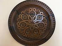 Різьбленна тарілка ручної роботи на стіну 28см
