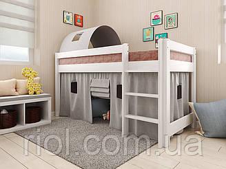 Детская деревянная кровать - чердак Адель