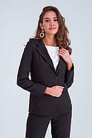 Женский деловой брючный костюм «Клаудиа» черный