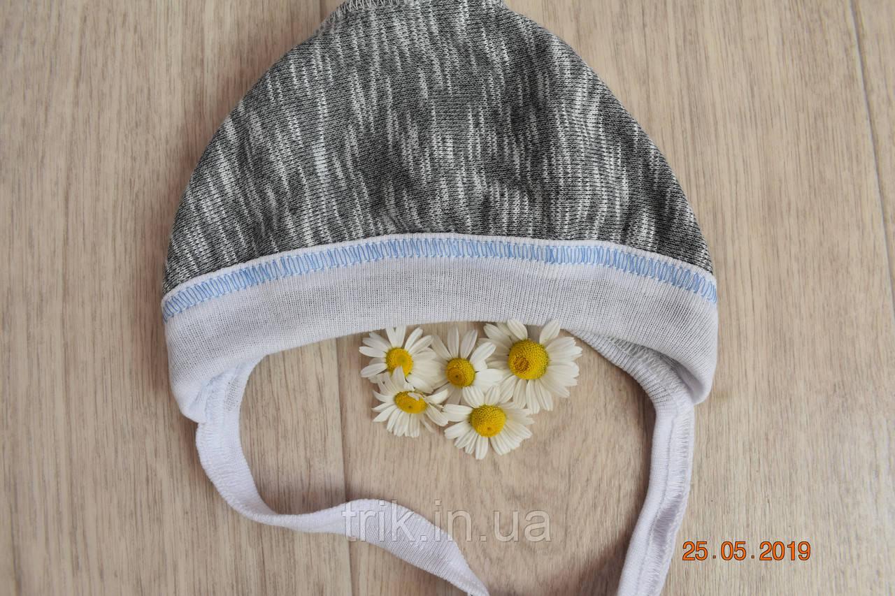 Чепчик для новорожденного TRIK теплый серый