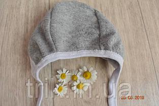 Чепчик для новорожденного TRIK теплый серый, фото 2