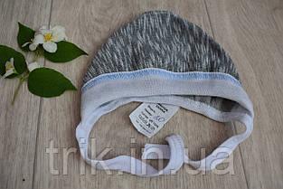 Чепчик для новорожденного TRIK теплый серый, фото 3