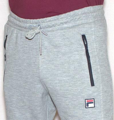 Чоловічі спортивні штани сірі Fila (копія), фото 2