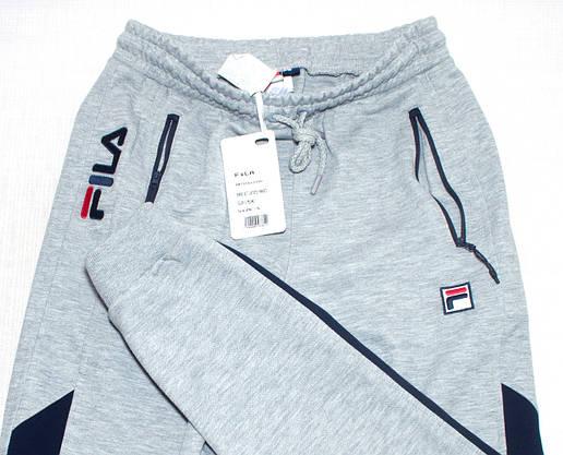 Чоловічі спортивні штани сірі Fila (копія), фото 3