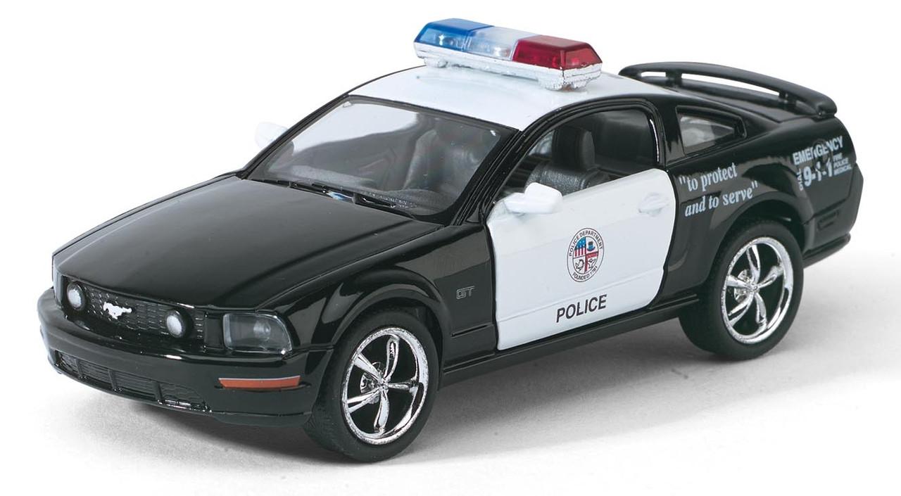 Машина. Автомодель металлическая 1:38 Ford Mustang GT Police КТ5091WP Kinsmart