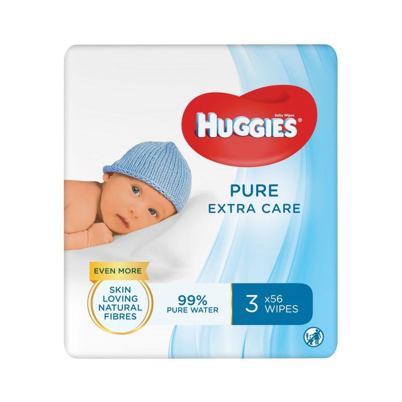Вологі серветки Huggies Pure Extra Care, 56шт