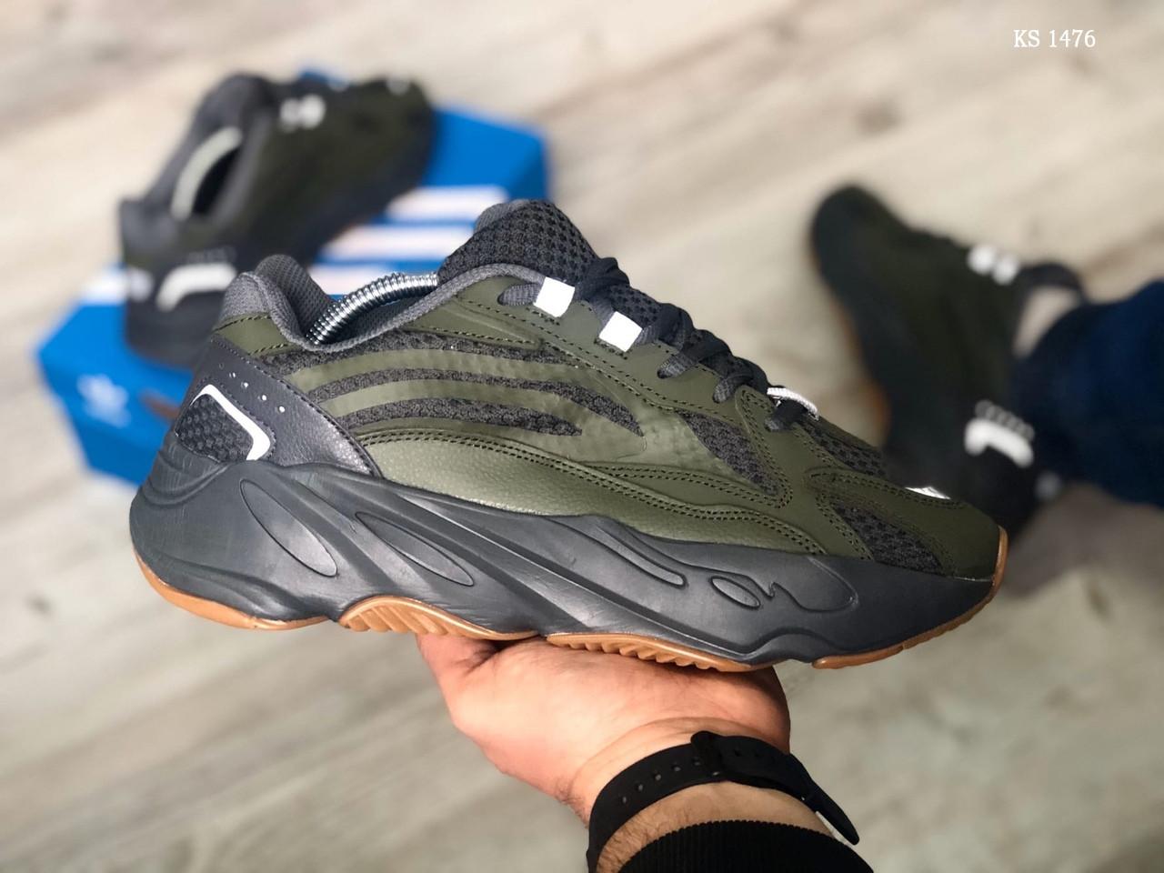 Мужские кроссовки Adidas Yeezy Boost 700 (зеленые) KS 1476