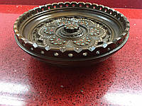 Конфетниця тарілка горіхова ручної роботи різьблена та інхрустована бісером 16 См, фото 1