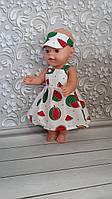 Сарафан и летняя панамка для кукол Беби Борн. Кукольная одежда.