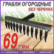 Грабли огородные (12 зубьев). Грабли без черенка, цена