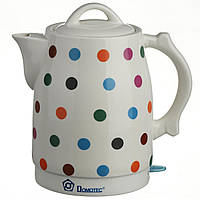 Электрочайник керамический Domotec 2.0 л чайник электрический, фото 1