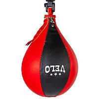 Груша пневматическая Каплевидная подвесная VELO (верх-кожа, латекс.камера, d-17см, l-28см), фото 1