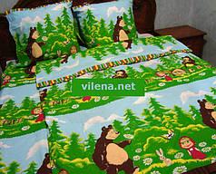 Детское полуторное постельное белье Маша и медведь