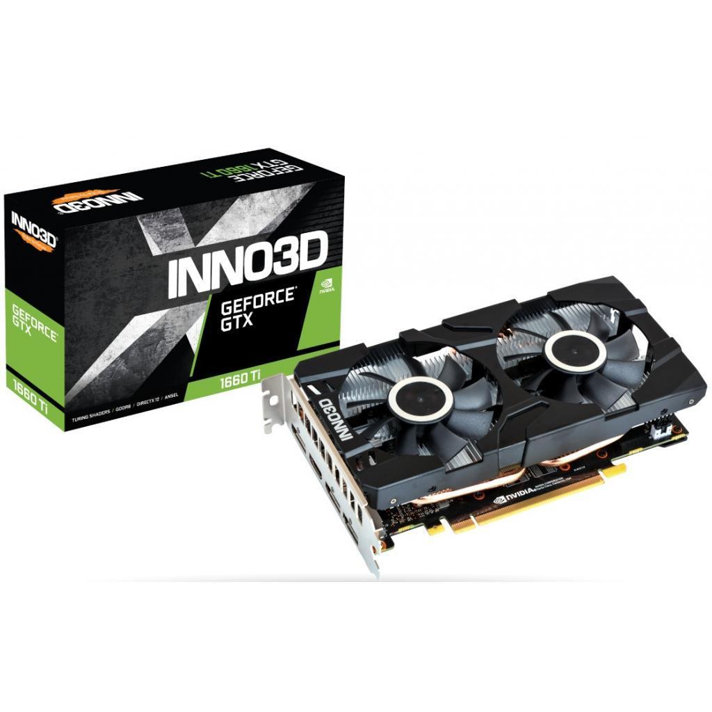 Видеокарта INNO3D GeForce GTX1660 Ti 6144Mb Twin X2 (N166T2-06D6-1710VA15)